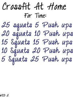 6 Crossfit workouts to do at home - Click image to find more DIY Crafts Pinterest pins