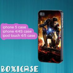 Iron man 3--iphone 4 case,iphone 5 case,ipod touch 4 case,ipod touch 5 case,in plastic,silicone and black,white. by Boxicase, $14.95
