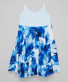 Blue Brush Spinning Dress