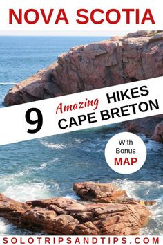 9 Amazing hikes along the Cabot Trail scenic drive in Nova Scotia with bonus map of all 9 hikes in the Cape Breton Highlands National Park Canada Nova Scotia Travel, Cabot Trail, Canada National Parks, East Coast Road Trip, Road Trip Hacks, Road Trips, Single Travel, Canadian Travel, Cape Breton