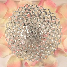 recycled basket - pop tabs and cut white zip ties - eco home. $25,00, via Etsy.