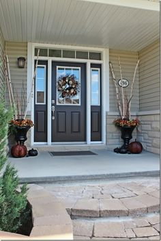 Superb Fall Home Tour {2013} And A $1,500 Giveaway. Brown Front DoorsPainted ...