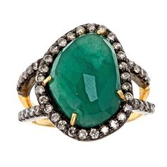 Sliced Ring, Emerald | J/Hadley