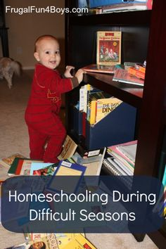 Homeschooling during difficult seasons - a post on dealing with the challenges that homeschooling moms face, written from a Christian perspective
