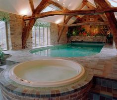 Indoor pool, hot tub. Just in case there's inclement weather and there's not enough room in the grotto.