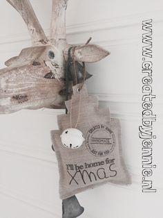 www.createdbyjennie.nl White Christmas, Christmas Time, Xmas, Art Textile, Handmade Home, Diy Stuff, Creative Inspiration, Wonderful Time, Woodland