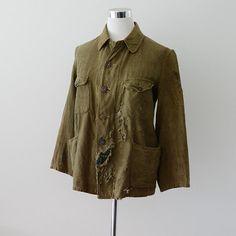 WW2 Military Jacket 40s Japanese Vintage grunge clothing Boro Bespoke Tailor ビスポーク ジャケット ヴィンテージ 40年代 国民服 ジャパン