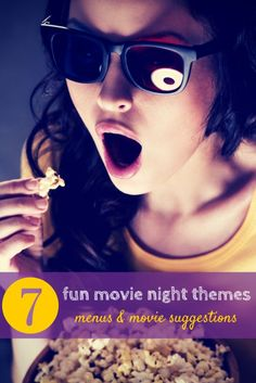 Take your family movie nights and kick it up a notch with these great theme suggestions to match your movies and your menus!