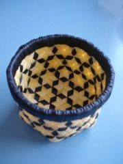 Basket made from P.P. STRAPPING BAND for packing and binding