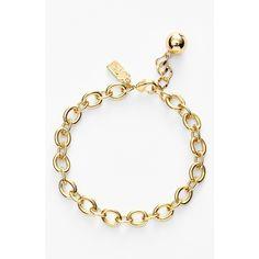 Women's kate spade new york 'how charming' charm bracelet - Gold/ Gold Gemstone Bracelets, Link Bracelets, Sterling Silver Bracelets, Jewelry Bracelets, Gold Link Bracelet, Geek Jewelry, Ankle Bracelets, Charm Jewelry, Silver Earrings