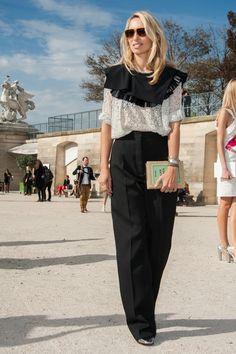 Alexandra Golovanoff's Best Street Style Looks - Street Style Spotlight: Alexandra Golovanoff - StyleBistro Victorian Collar, Looks Street Style, Shirt Blouses, Shirts, Collar Top, Fashion Editor, Street Chic, How To Look Pretty, Spotlight