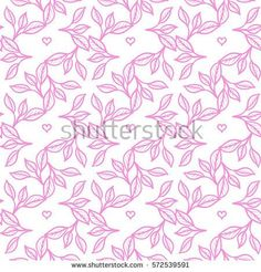 Vector seamless pattern on a white background. Leaves ornament. Pastel color.
