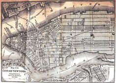 Map Of Lower Half Of Manhattan From Looks Mostly The Same - Lower manhattan us map