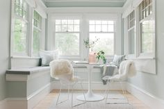 "Don't Paint Small Spaces White  ""Oddly enough, white is a dead tone in a small room. Choosing something with a more medium tone will make the space feel larger. "" — Emily Henderson"