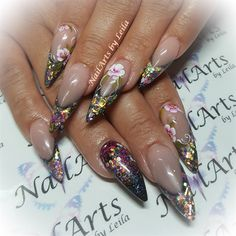 Day 105: Floral French and Embellished Nail Art - - NAILS Magazine