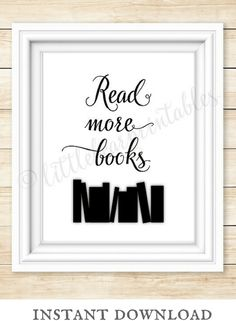 Read more books! Love this instant download wall art. Perfect for kids room. library, or classroom! #ad