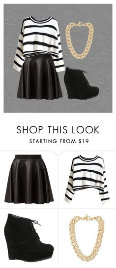 """""""Black, White, and Chains"""" by glennyfranzen on Polyvore featuring Cameo Rose, ALDO and Michael Kors"""