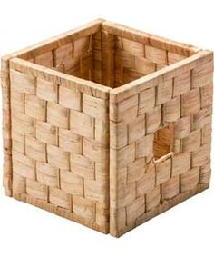 Water Hyacinth Woven Cube Storage Basket - Large Weave.