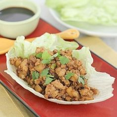 Copycat P.F. Chang's Chicken Lettuce Wraps. Just like the restaurant favorite and ready in 20 minutes!