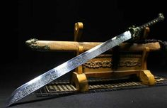Tiger Head Broadsword Chinese KungFu Dao Sword Saber Sharp High Manganese Steel | eBay Katana Swords, Knives And Swords, Tactical Katana, Chinese Broadsword, Odin's Spear, Dao Sword, Chinese Tiger, Saints Vs, Ninja Sword