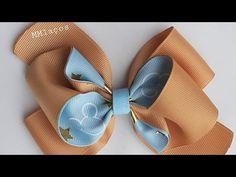 Kanzashi Tutorial, Hair Bow Tutorial, Ribbon Art, Diy Ribbon, Bow Template, Hair Boutique, Leather Pillow, Diy Hair Bows, Diy Hairstyles