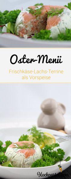 Ostermenü - Frischkäse-Lachs-Terrine als Vorspeise - Appetizer - Ostern - Osteressen - Osterrezept - Fischgericht