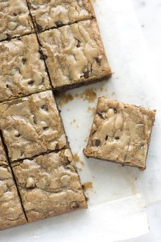 No-Fail Blondies Recipe from www.inspiredtaste.net #dessert #recipe  Edit: Tried but also took a chance on a change and melted some caramels into the batter. The way I did it caused the chocolate chips to melt and it turned out delicious, but I want to work on perfecting it that way.