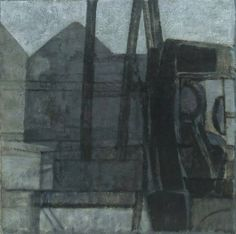 Lorry and Buildings: Study Prunella Clough 1952 oil on canvas 21 x 21 ins Urban Landscape, Landscape Art, Abstract Images, Abstract Art, Painting Collage, Paintings, Traditional Landscape, Cool Landscapes, Urban Art