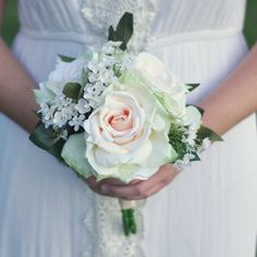 Silk Wedding Bouquets shipping worldwide by Holly's Wedding Flowers. Find us on Etsy at Holly's Flower Shoppe.