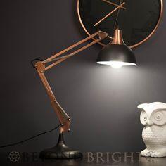 SLY Designer Table Desk Lamp Light BLACK/COPPER Modern Industrial Retro GIFT
