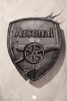 I made the logo of my favorite team Arsenal.Outlines done with Corel Painter XI, the rest of it in Photoshop Arsenal Tattoo, Logo Arsenal, Arsenal Fc Players, Arsenal Football, Arsenal Wallpapers, Sports Wallpapers, Soccer Art, Football Art, Corel Painter
