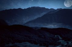 Mountains in the moonlight by Vittorio Chiampan