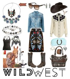 """Wilder than the West"" by creation-gallery ❤ liked on Polyvore featuring Justin Boots, Ippolita, Lolo, American West, Mary Katrantzou, Yves Saint Laurent, Isabel Marant, Ralph Lauren, Bailey Western and Black Diamond"