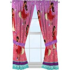 Disney's Elena of Avalor 'Avalor Dream' Microfiber Window Panels-Exclusive On Line Only Girls Bedroom Curtains, Bedroom Decor, Bedrooms, Princess Room, Disney Princess, Panel Curtains, Curtain Panels, Window Panels, Little Girl Rooms