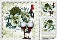 Beautiful green cream roses with red wine in lace for that special day 8x8 frame on Craftsuprint - View Now!