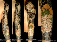 Japanese sleeve tattoo by Horimitsu