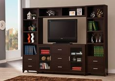 Home entertainment center large picture of coaster furniture home entertainment media center furniture . home entertainment center Tv Stand And Entertainment Center, Entertainment Center Wall Unit, Espresso, Tv Stand Decor, Home Entertainment Furniture, Entertainment Products, Cool Tv Stands, Coaster Furniture, Furniture Deals