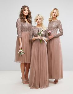 Share This: 10 rules how to become the most beautiful bridesmaid EVER you will … – Wedding Style Asos Bridesmaid Dress, Blush Pink Bridesmaid Dresses, Bridesmaid Dresses With Sleeves, Modest Dresses, Girls Dresses, Flower Girl Dresses, Pink Dresses, Maid Of Honour Dresses, Indian Gowns Dresses