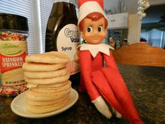 Image result for elves making pancakes