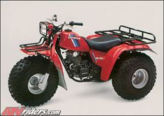 Early 80's Honda Big Red 3-wheeler, oh the hours I logged on one of these things.