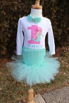 Girls Mermaid Birthday OUTFIT/ 1st 2nd 3rd by LittleGraceBowtique