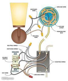 light with outlet 2 way switch wiring diagram kitchen pinterest rh pinterest com Floor Lamp Wiring Diagram Light Socket Diagram