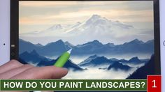 HOW TO PAINT REALISTIC LANDSCAPE 1: Mountains in the mist painting tutor...