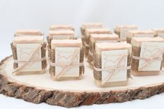25 Bridal Shower Soap Favors ~ Rustic ~ Handmade ~ Custom Wedding Favours on Etsy, $43.75