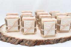 25 Bridal Shower Soap Favors ~ Rustic ~ Handmade ~ Custom Wedding Favours on Etsy, $43.75