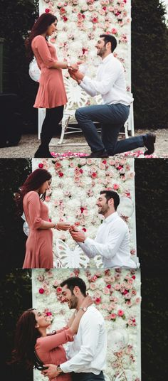 Everything about this proposal setup is so romantic! He thought of all the romantic details, and she was totally surprised.