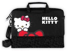 Hello Kitty Hello Kitty Notebook Bag (Black): Hello Kitty Laptop Case, Conveniently and Stylishly Holds and Protects your Laptop Computer (up to Size) Laptop Carrying Case, Laptop Case, Notebook Bag, Notebook Laptop, Hello Kitty Bag, Kitty Kitty, Hello Kitty Collection, Computer Bags, Laptop Computers