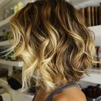 Short Wedge Bob Hairstyle for Curly Hair