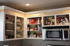 How to as height to kitchen cabinets.