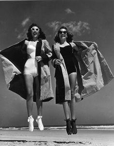Photos by Phillippe Halsman. Daytona Beach, 1947. Oooo!